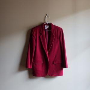 VINTAGE Red 100% Wool Blazer